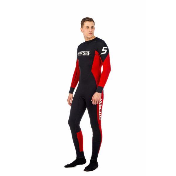 гидрокостюм мужской красно-черный