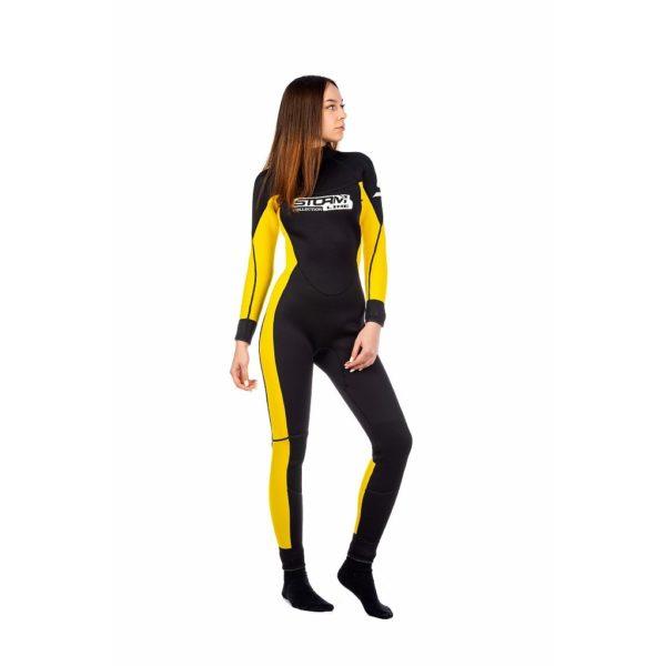 гидрокостюм женский желтый